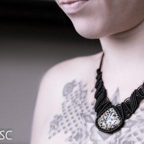 collier jaspe dalmatien macrame dolminson jasper necklace (5)