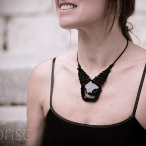 collier obsidienne dentelle macrame obsidian lace necklace kaprisc (6)